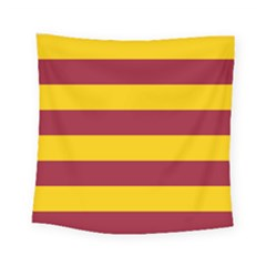 Oswald s Stripes Red Yellow Square Tapestry (small)