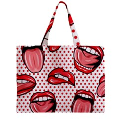 Lipstick Lip Red Polka Dot Circle Zipper Mini Tote Bag by Mariart