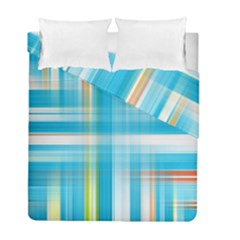 Lines Blue Stripes Duvet Cover Double Side (full/ Double Size) by Mariart