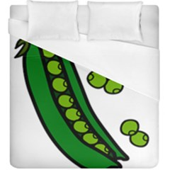Peas Green Peanute Circle Duvet Cover (king Size) by Mariart