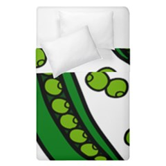 Peas Green Peanute Circle Duvet Cover Double Side (single Size) by Mariart