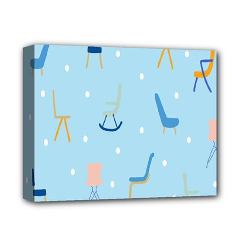Seat Blue Polka Dot Deluxe Canvas 14  X 11  by Mariart