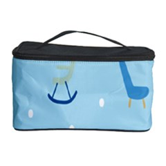Seat Blue Polka Dot Cosmetic Storage Case by Mariart