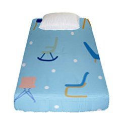 Seat Blue Polka Dot Fitted Sheet (single Size) by Mariart