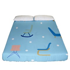 Seat Blue Polka Dot Fitted Sheet (king Size) by Mariart