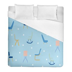 Seat Blue Polka Dot Duvet Cover (full/ Double Size) by Mariart