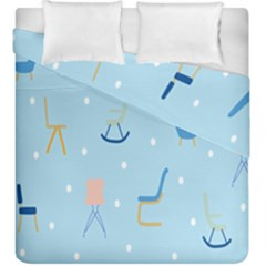 Seat Blue Polka Dot Duvet Cover Double Side (king Size) by Mariart