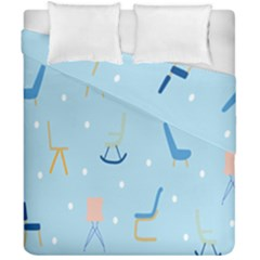 Seat Blue Polka Dot Duvet Cover Double Side (california King Size) by Mariart