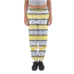 Paper Yellow Grey Digital Women s Jogger Sweatpants by Mariart
