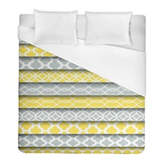 Paper Yellow Grey Digital Duvet Cover (full/ Double Size) by Mariart