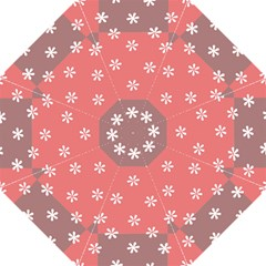 Seed Life Seamless Remix Flower Floral Red White Hook Handle Umbrellas (medium) by Mariart