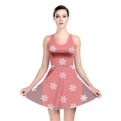 Seed Life Seamless Remix Flower Floral Red White Reversible Skater Dress by Mariart