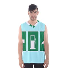 Traffic Signs Hospitals, Airplanes, Petrol Stations Men s Basketball Tank Top by Mariart