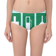 Traffic Signs Hospitals, Airplanes, Petrol Stations Mid Waist Bikini Bottoms by Mariart