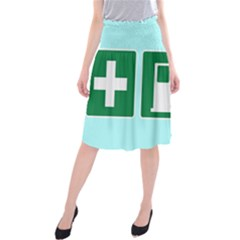 Traffic Signs Hospitals, Airplanes, Petrol Stations Midi Beach Skirt