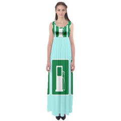 Traffic Signs Hospitals, Airplanes, Petrol Stations Empire Waist Maxi Dress by Mariart
