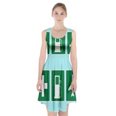 Traffic Signs Hospitals, Airplanes, Petrol Stations Racerback Midi Dress by Mariart