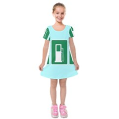 Traffic Signs Hospitals, Airplanes, Petrol Stations Kids  Short Sleeve Velvet Dress by Mariart