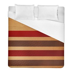 Vintage Striped Polka Dot Red Brown Duvet Cover (full/ Double Size) by Mariart