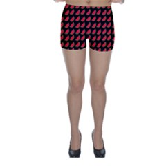 Watermelon Slice Red Black Fruite Skinny Shorts