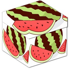 Watermelon Slice Red Green Fruite Circle Storage Stool 12   by Mariart