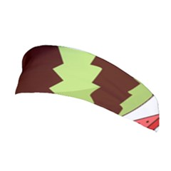 Watermelon Slice Red Green Fruite Circle Stretchable Headband by Mariart