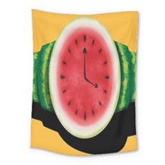 Watermelon Slice Red Orange Green Black Fruite Time Medium Tapestry by Mariart