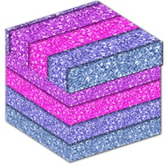 Violet Girly Glitter Pink Blue Storage Stool 12   by Mariart