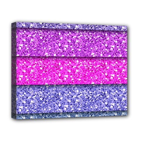 Violet Girly Glitter Pink Blue Deluxe Canvas 20  X 16   by Mariart