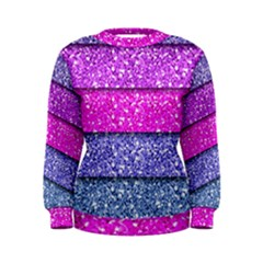 Violet Girly Glitter Pink Blue Women s Sweatshirt by Mariart
