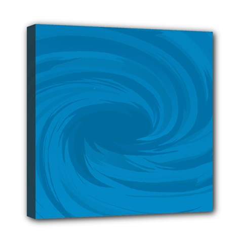 Whirlpool Hole Wave Blue Waves Sea Mini Canvas 8  X 8  by Mariart