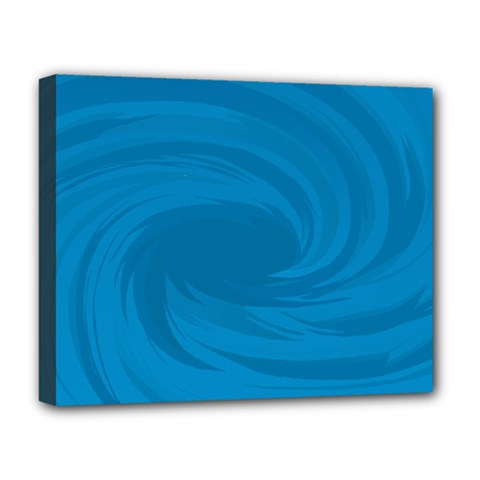 Whirlpool Hole Wave Blue Waves Sea Deluxe Canvas 20  X 16   by Mariart