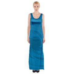 Whirlpool Hole Wave Blue Waves Sea Maxi Thigh Split Dress