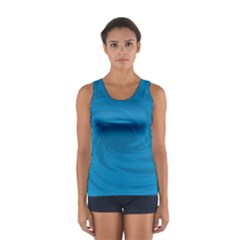 Whirlpool Hole Wave Blue Waves Sea Women s Sport Tank Top  by Mariart
