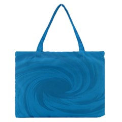 Whirlpool Hole Wave Blue Waves Sea Medium Zipper Tote Bag by Mariart
