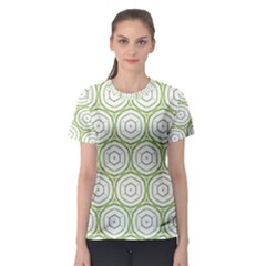 Wood Star Green Circle Women s Sport Mesh Tee by Mariart