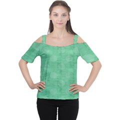Polka Dot Scrapbook Paper Digital Green Women s Cutout Shoulder Tee by Mariart