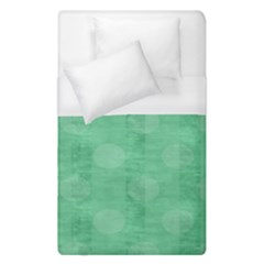 Polka Dot Scrapbook Paper Digital Green Duvet Cover (single Size) by Mariart