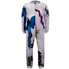 Wonderful Blue Parrot In A Fantasy World Onepiece Jumpsuit (men)  by FantasyWorld7