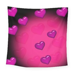 Pink Hearth Background Wallpaper Texture Square Tapestry (large) by Nexatart