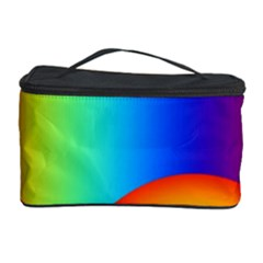 Background Rainbow Cosmetic Storage Case by Nexatart