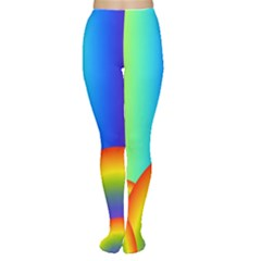 Background Rainbow Women s Tights