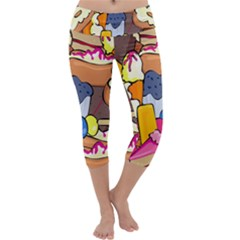 Sweet Stuff Digitally Food Capri Yoga Leggings