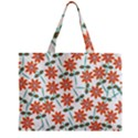 Floral Seamless Pattern Vector Zipper Mini Tote Bag View2
