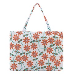 Floral Seamless Pattern Vector Medium Tote Bag