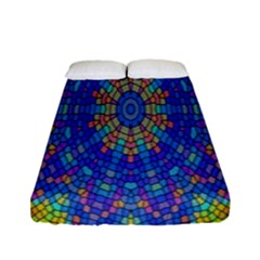 A Creative Colorful Backgroun Fitted Sheet (full/ Double Size) by Nexatart