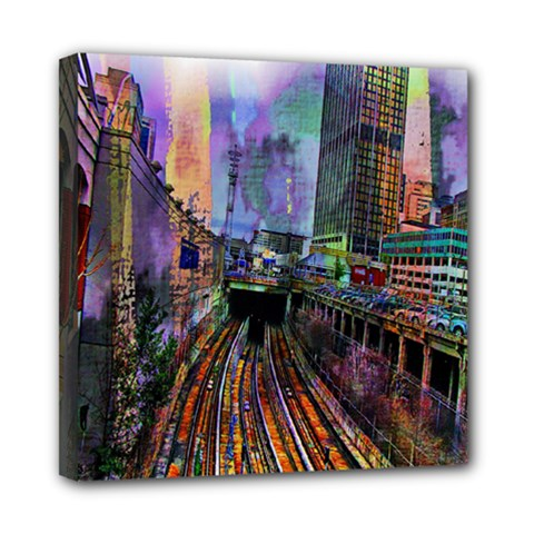 Downtown Chicago City Mini Canvas 8  X 8  by Nexatart