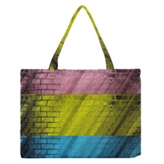 Brickwall Medium Zipper Tote Bag by Nexatart