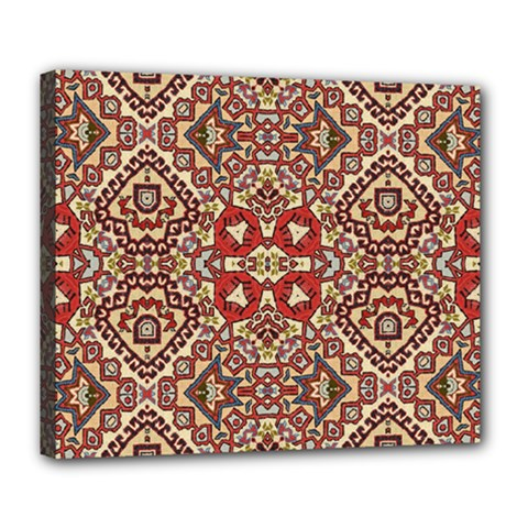Seamless Pattern Based On Turkish Carpet Pattern Deluxe Canvas 24  X 20   by Nexatart