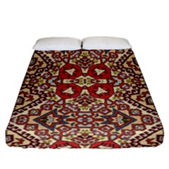 Seamless Pattern Based On Turkish Carpet Pattern Fitted Sheet (queen Size)